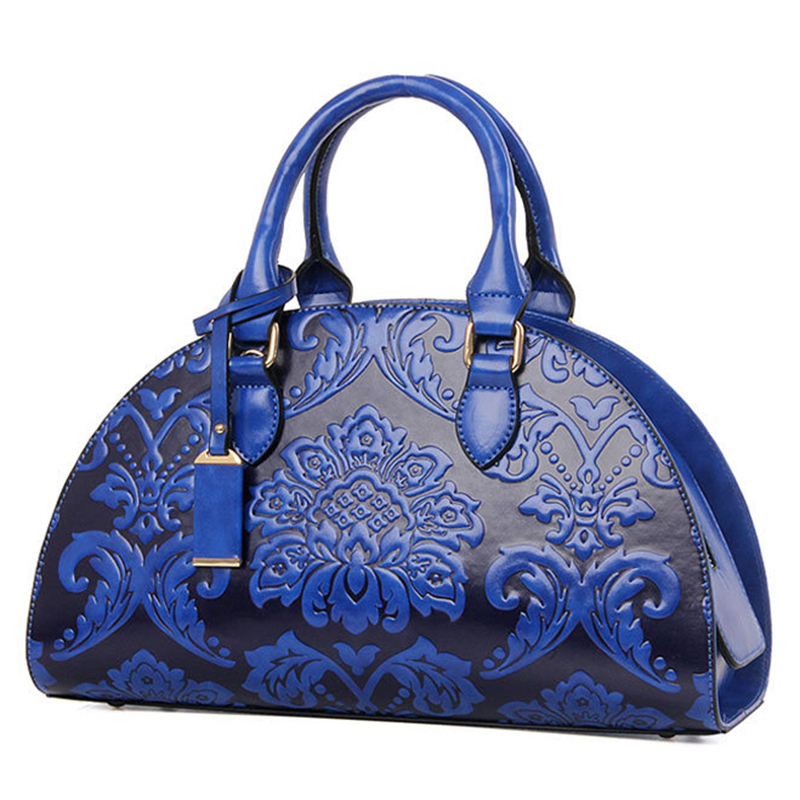Famous Brands Women Chinese Style Leather Handbags Vintage Flowers Printing Shell Bag High Quality Crossbody Bags For Ladies<br>