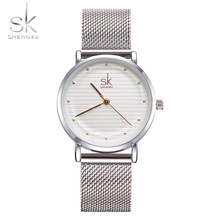 Shengke Brand Fashion Wristwatches Women Stainless Steel Band Women Dress Watches Women Quartz-Watch Relogio Feminino New SK(China)