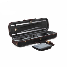 High Grade Pleuche Rectangle Violin Case 4/4 3/4 1/2 1/4 with Hygrometer Black Oxford Buit-in High Quality Violino Case TONGLING(China)