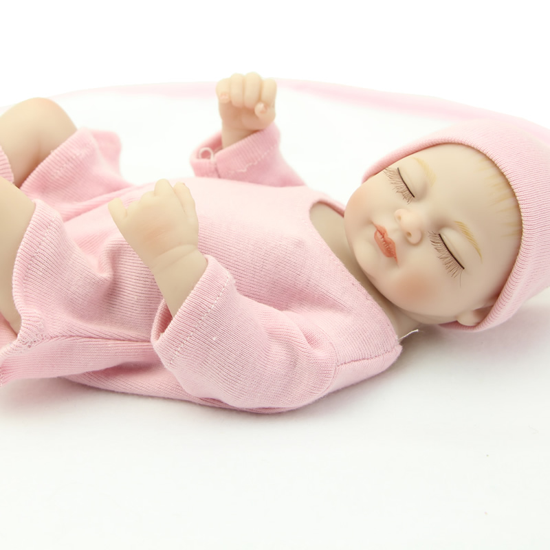 25CM /10Inch Lifelike Mini Babies Dolls Realistic Sleeping Full Body silicone Baby Girl Toy Christmas Gift<br><br>Aliexpress