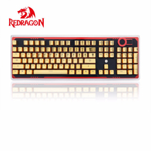 Redragon A101G 104 PBT Double Shot Injection Backlit Metallic Electroplated Gold Color Keycaps for Mechanical Switch Keyboards(China)