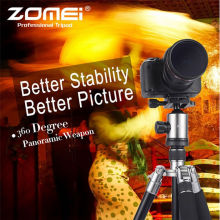 Zomei Z818 Professional Travel Tripod Metallic Color Ball Head Compact for Canon Sony, Nikon,Kodak, Fuji-Black