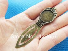 3pcs Antique Silver/Antique Bronze Bookmark Base Setting Tray Bezel Pendant Charm,Fit 18mm Cabochon/Picture/Came