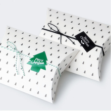 10 pieces 350gsm  Christmas Coffee Tree Pillow Boxes Cardboard Boxes for Biscuit , Cookie box, mini gift box