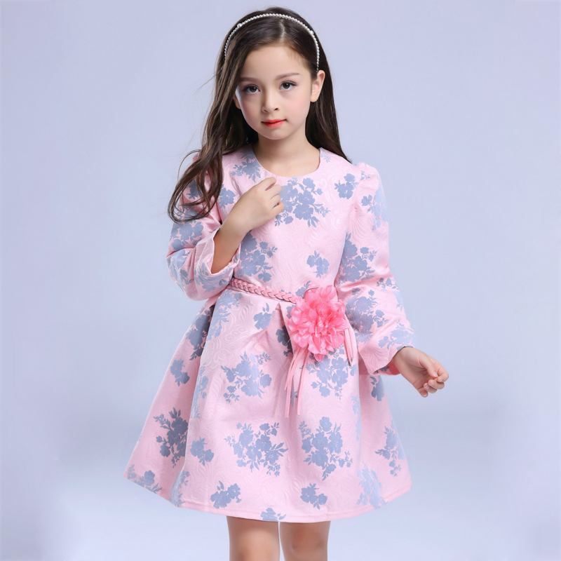 2017 New Autumn girls dress mother &amp; kids clothes Princess style girls clothing 3-7 years childrens clothes<br><br>Aliexpress