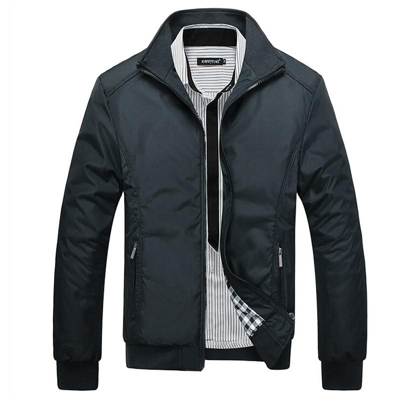 New Arrival 2017 Men's Jacket Male Overcoat Casual Slim Fit Mandarin Collar Solid Waterproof Jackets M-XXXL Men Jackets coats