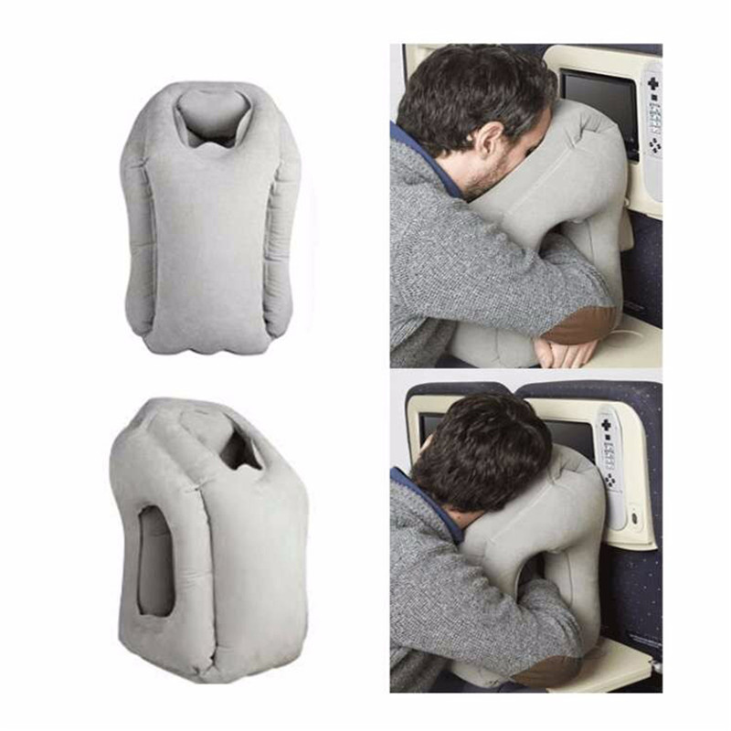 2017 hot sale Multi-function Inflatable Woollip travel outdoor pillow Inflatable Travel on Airplane outdoor Pillow Cushion mat  (7)