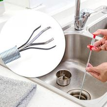 Practical Spring Drain Bendable Pipe Cleaner Bathroom Toilet Pipes Cleaning Tool Hair Removal Toilet Kitchen Cleaning Tools