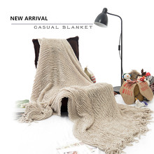 100% Acrylic Casual Sofa Throw Home Decoration Knitted Blanket