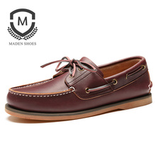 Maden Brand 2017 Autumn Hot Sale Mens Casual Shoes Handmade High Quality Comfortable Boat Shoes Lace Up Classic Flats shoes(China)