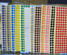 Joy Green paper Dot Stickers,   6mm paper Packaging sticker Label ,Blank Round Dot Adhesive tag