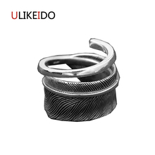 100% Pure 925 Sterling Silver Jewelry Takahashi Goros Rings Eagle Feathers Jewelry Opening Ring For Women Mens Signet Rings 178