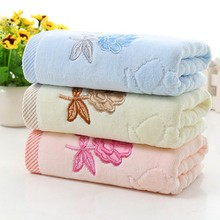 Home Textile Cotton Embroidered Rose Face Towels For Adults Home Kitchen High Quality Towels 3 color(China)