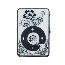 Malloom 2017 Flower Pattern Slim Mini Clip MP3 Music Player Media Support Micro SD TF Card case MP3 player electronica #MA24