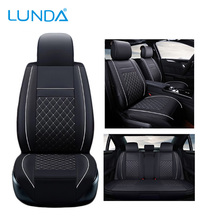 LUNDA Leather car seat cover set For Jeep Chrysler Dodge Tesla Mclaren Car Seats Protector car cushion styling Auto Interior