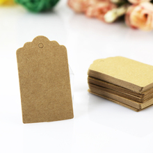 Hotsale 200Pcs/lot Brown Kraft Jewelry Tag 3x5cm Fashion Hang Tags Rectangle Shape Paper Jewelry Card Price Tag Label