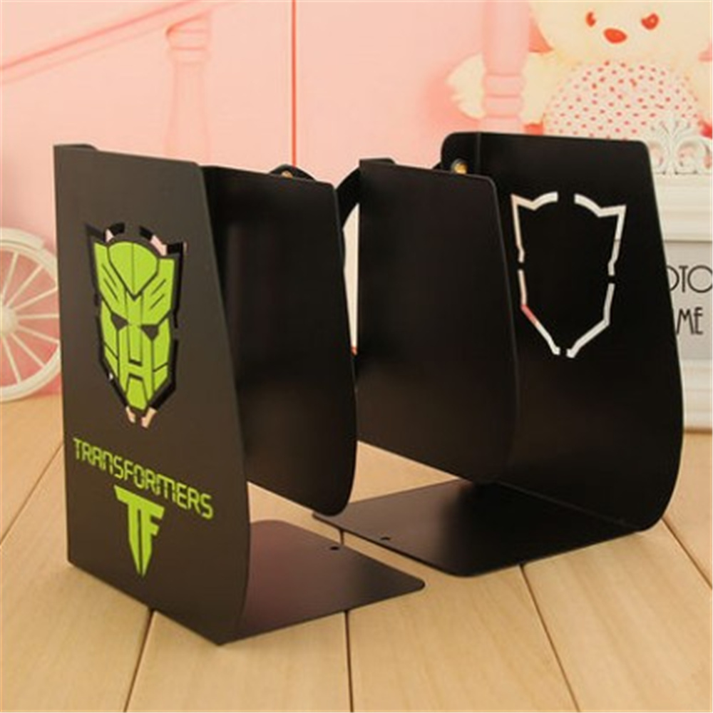 Cheap Transformers Carton Metal Bookend Shelf Bookend Holder Office School Supplies Stationery  41 pattern for choose<br>