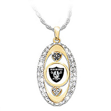 Oakland Raiders Pride oval Pendant Necklace drop shipping  Football team logo sports jewelry best christmas gift