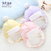 HH TU 3 Colors Toddlers Cool Baby Boy Girl Kids Infant Winter Pilot Aviator Warm Cap Hat Beanie Ear Flap Soft Hat(China)