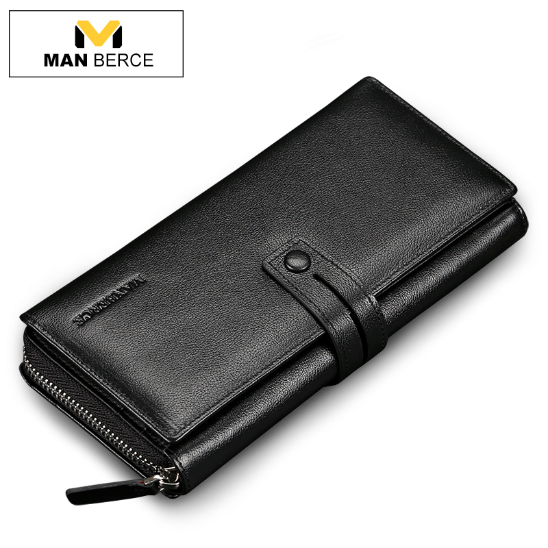 MANBERCE Men Clutch Bags Genuine Leather Wallet Man Cowhide Purse Business Casual Mens Handbag Brand Mens Wallets Free Shipping<br><br>Aliexpress
