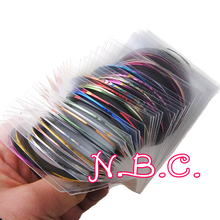 30Pcs/Lot Mixed Colors Nail Art Decorations Nail Sticker Striping Tape Line High Quality Stickers Manicure Stickers for Nails