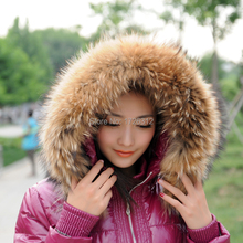Male ms article big raccoon cap was a raccoon fur collars skin straw hat led the whole leather wholesale and make to order(China)
