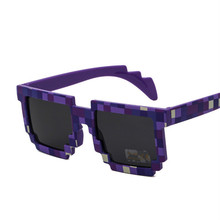 VESTEY Vintage Trendy Square Novelty Mosaic Unisex Pixel Sunglasses Retro Lattice Sunglasses Cute Children Sunglasses