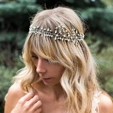 Handmade Romantic Head Pieces Rhinestone Bridal Hair Band Crystal Beaded Headbands Wedding Hair Accessories For Bride