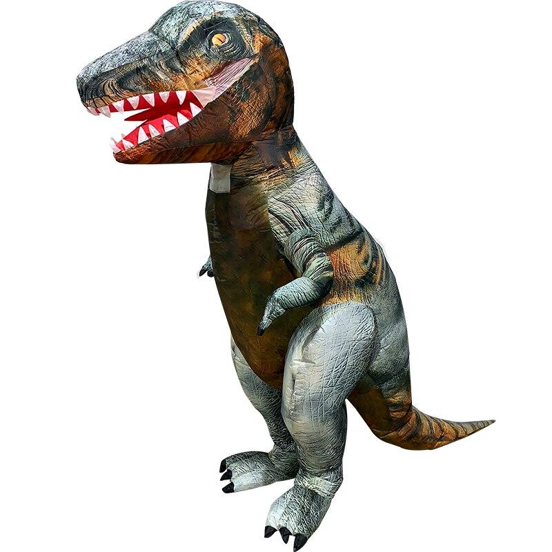 Christmas Fancy Gift Suit T-REX Lizard Dinosaur Inflatable Halloween Costume NEW