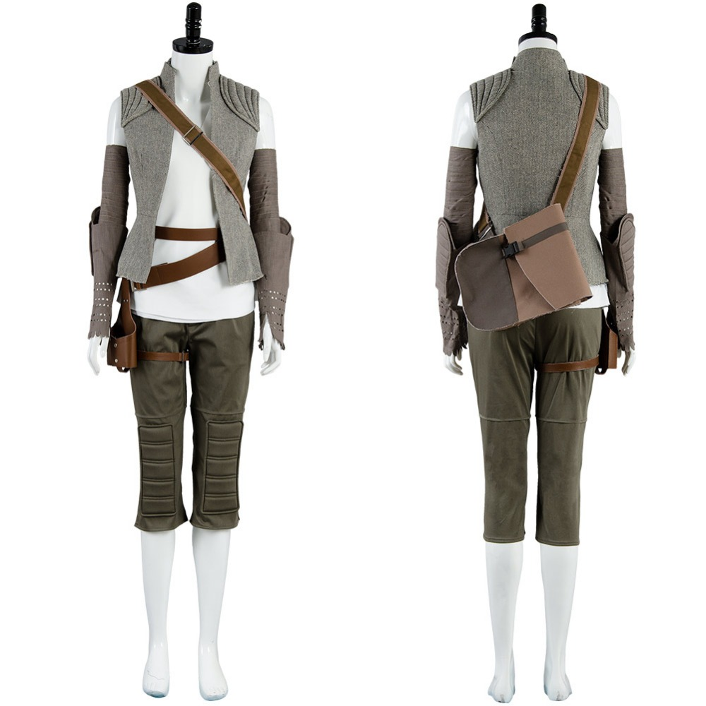 Star Wars 8 The Last Jedi Rey Cosplay Costume Full Sets