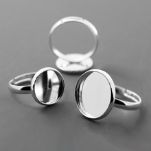 Buy 10pcs WHOLESALE Silver Ring Blank Jewelry inner 12/14/16/18/20mm Bezel Setting Tray Cameo Cabochons Diy Fittings for $1.58 in AliExpress store