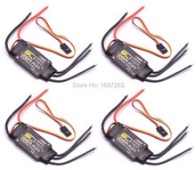 4PCS Emax 20A BLHeli ESC 2-4s LiPo 20A BL Speed Controller 2A / 5V BEC for RC 250mm 270mm 280mm Multirotor Quadcopter