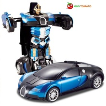 Free Shipping Luxury Sports Car Models Deformation Robot Transformation Remote Control RC Car Toys for Kids Christmas Gift TT663