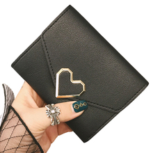 Short Lady Heart Purses Hasp Women Wallets Clutch Solid Lovely Purse Brand Woman Wallet Fold Cards ID Holder Moneybags Pocket