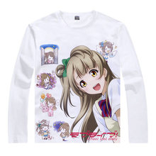 love live T-Shirt Eli Ayase Shirt colorful T shirts Anime Accessories Print Womens Long sleeves t-shirts Cosplay Anime t-shirt a