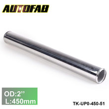 "51mm 2""Aluminum Exhaust/Downpipe/Intercooler DIY Piping Pipe Straight L: 450 mm For Honda Accord 03-07  TK-UP0-450-51"