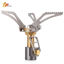 Picnic Big Power Windproof Gas Stove Outdoor Cooking Firepower Energy Saving Outdoor Mini Furnace Gas Stove Lighter Lightweight(China)
