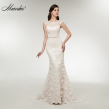 Buy Miaoduo 2018 New Lace Mermaid Appliques Wedding Dresses Sleeveless Court Train Wedding Gowns Cheap Nice vestidos de novia for $115.50 in AliExpress store