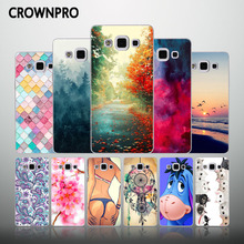 CROWNPRO Cute Cases Silicone FOR Samsung A5 2015 Cover Soft TPU Back Protector FOR Samsung Galaxy A5 A510 A510F A5000 Phone Case