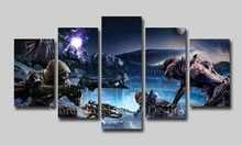 Destiny HD Photos NO Frame Artwork Modern Home Wall Deco Canvas Painting Game Posters 5Panels for livingroom