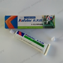 5pcs Kafuter 100g K-5211 thermal grease graphics card cooling thermal silica LED lamp beads special glue good insulation white(China)