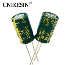 CNIKESIN 30PCS 25V1000uf Low ESR SANYO Aluminum Electrolytic Capacitor 10X16mm 1000UF 25V High Frequency LCD motherboard(China)