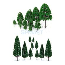 New 22 Green Model Trees Train Railways Architecture War Game Scenery Layout 3-16 cm