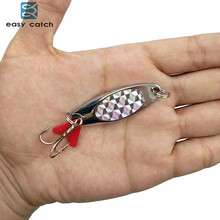 Easy Catch 1pc 15g Hard Metal Spoon Fishing Lures Saltwater Fishing China Silver Jig Trout Spinner Bait Fishing Blade Wobblers
