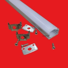15pcs 80inch,2m each led bar light housing,U Led aluminum profile with Cover,Led channel for 10mm PCB strip housing