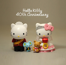 new arrival Anime Hello Kitty Figures Set Sanrio Couple Wedding Gift  Action Figure Toys Figurines anniversary limited Model