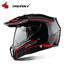 NENKI Black Full Face Motorcycle Helmet Motorcycle Riding Helmet Men's Off Road Downhill DH Racing Helmet Cross Helmet Capacetes(China)
