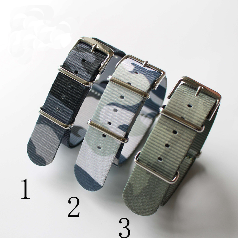 Hot Sales 20mm 22mm Camouflage Military Army Green Nylon Fabric Canva Wrist Watch Band Strap For Sport Watch 9 Color<br><br>Aliexpress