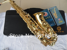 The wholesale-- export students E flat alto saxophone surface paint gold plated AS-100(China)
