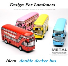 London bus, Alloy double decker bus, light and music, open door design, design for londoners. Metal bus free Shipping